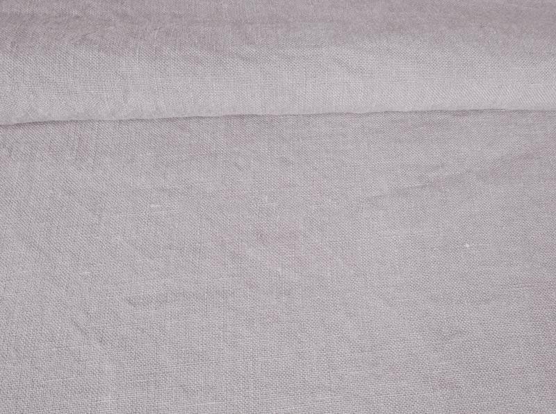 Ткань с эффектом мятости лен 100 черничное молоко фото 1>                   <span class=