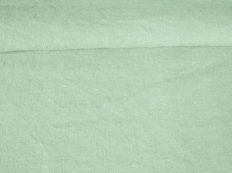 Ткань с эффектом мятости лен 100 мятное утро фото 1>                   <span class=