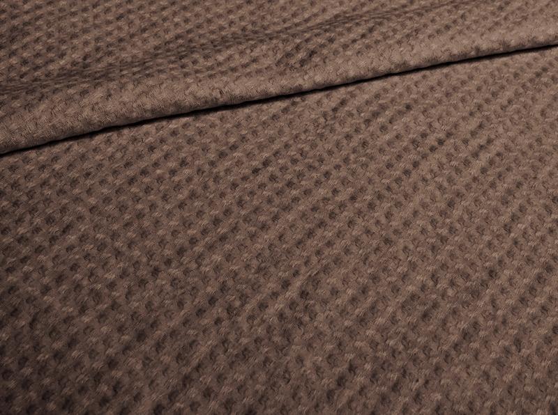 Ткань полотенечная с эффектом мятости п лен каштан фото 1>                   <span class=
