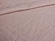 Ткань с эффектом мятости п лен розовый пион фото 1