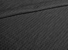 Ткань с эффектом мятости п лен черный клевер фото 1