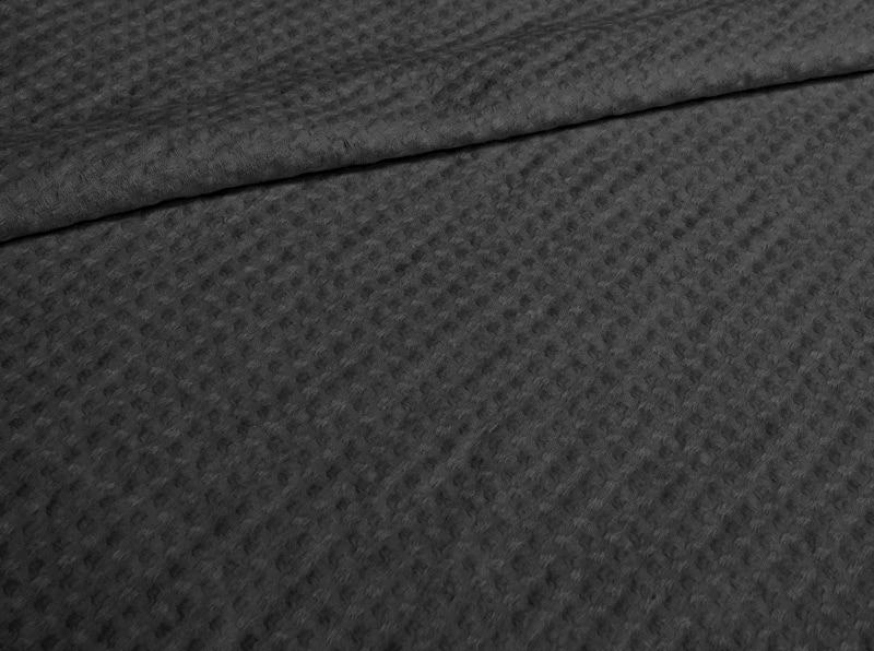 Ткань с эффектом мятости п лен черный клевер фото 1>                   <span class=