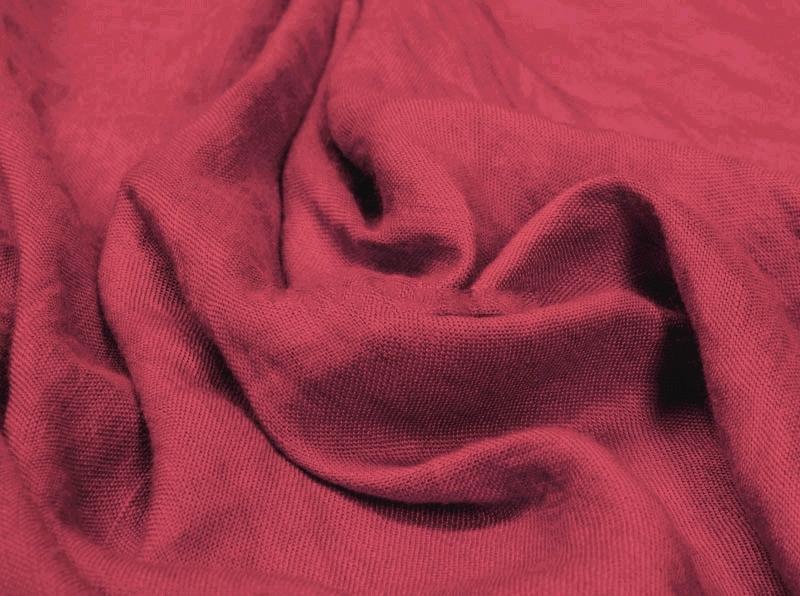 Ткань с эффектом мятости лен вискоза малиновый щербет фото 1>                   <span class=