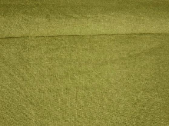 Ткань с эффектом мятости лен 100 фисташка фото 1>                   <span class=