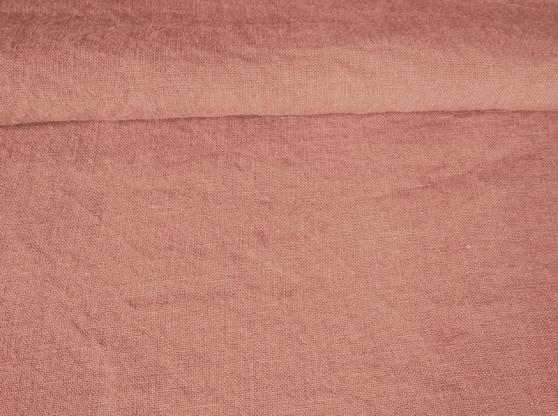 Ткань с эффектом мятости лен 100 светлый терракот фото 1>                   <span class=