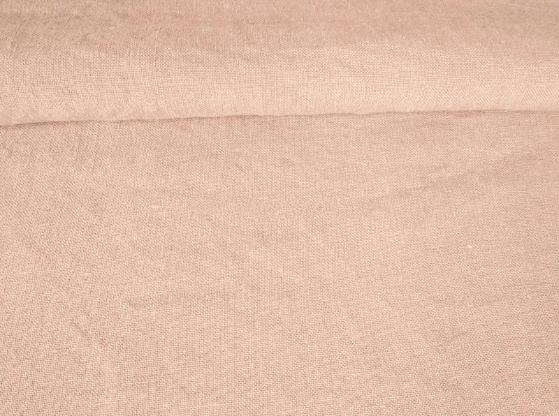 Ткань с эффектом мятости лен 100 розовое облако фото 1>                   <span class=