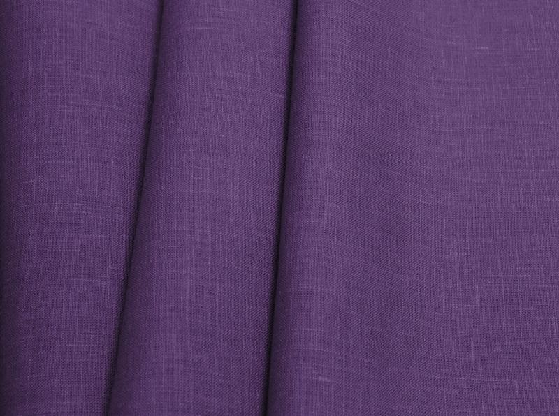 Ткань костюмная лен 100 темная сирень фото 1>                   <span class=