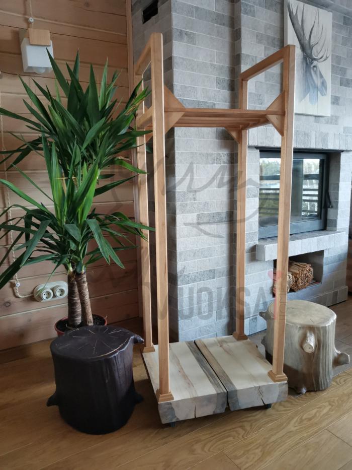 Домашняя дровница  нижняя часть из сосны 40мм фото 1>                   <span class=