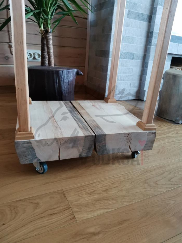 Домашняя дровница  нижняя часть из сосны 40мм фото 3>                   <span class=