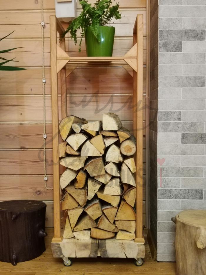 Домашняя дровница  нижняя часть из сосны 40мм фото 5>                   <span class=