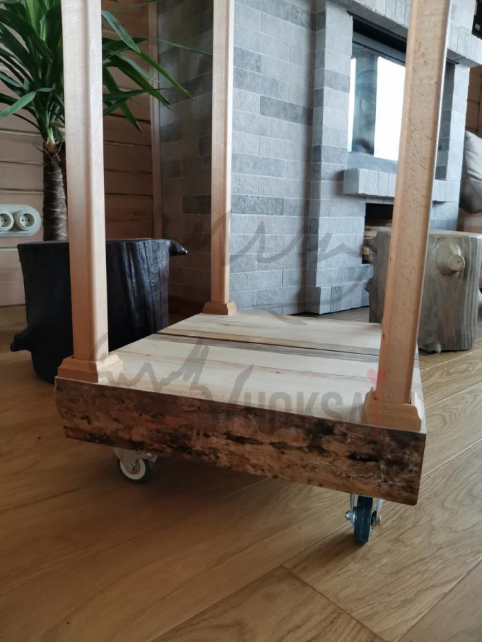 Домашняя дровница  нижняя часть из сосны 40мм фото 8>                   <span class=