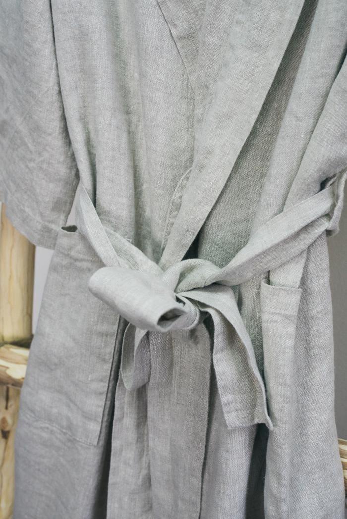 Халат для бани лен 100 линна фото 2