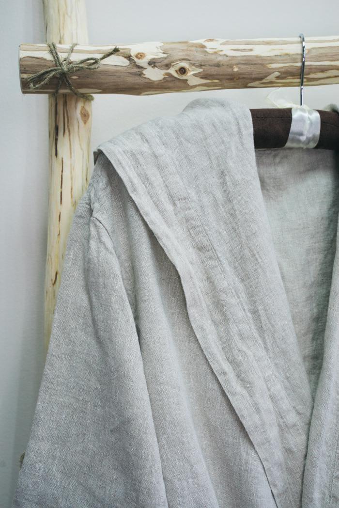 Халат для бани лен 100 линна фото 3
