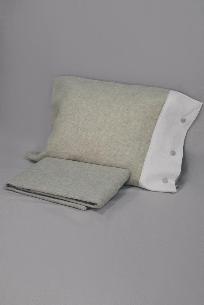 Комплект постельного белья лен 100 кантри евро фото 1