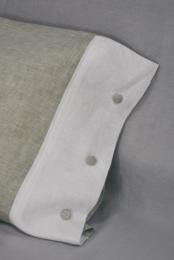 Комплект постельного белья лен 100 кантри евро фото 2