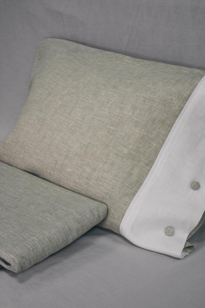 Комплект постельного белья лен 100 кантри евро фото 3