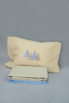 Комплект постельного белья лен 100 лапландия евро фото 1