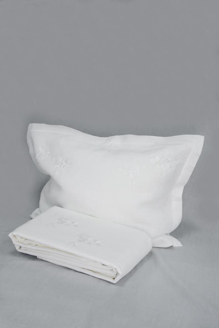 Комплект постельного белья лен 100 рускеала евро фото 1