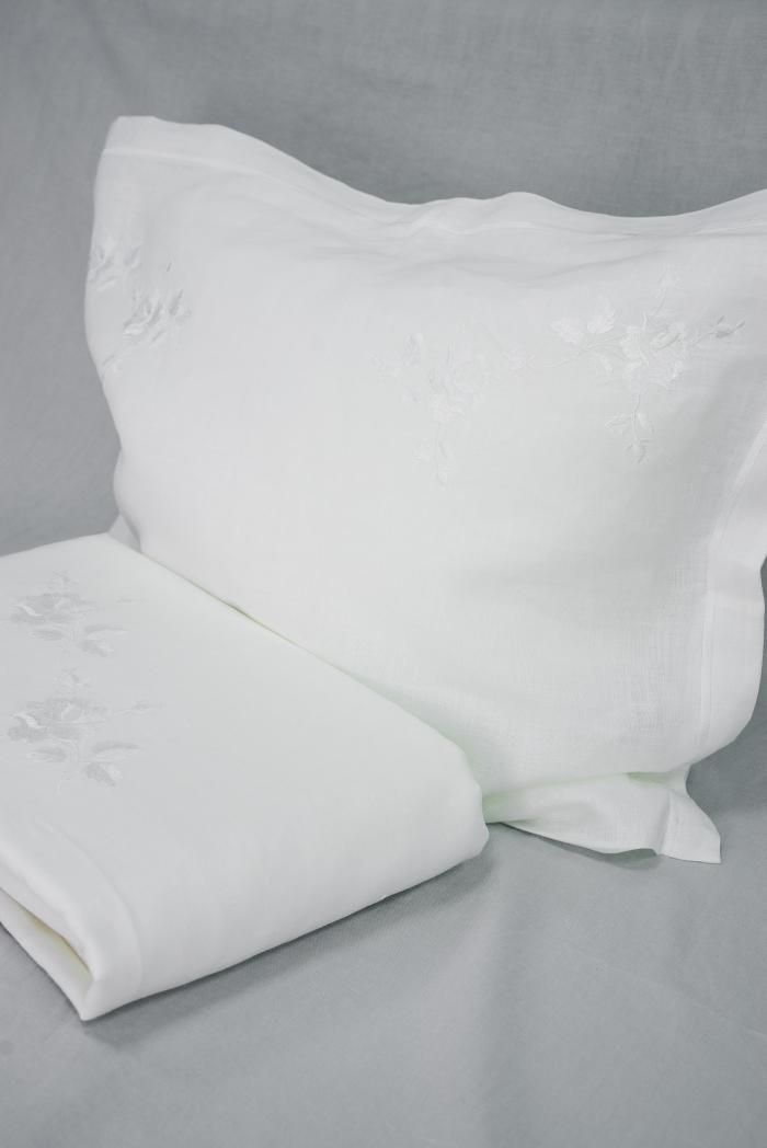 Комплект постельного белья лен 100 рускеала евро фото 3