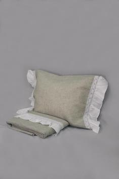 Комплект постельного белья лен 100 рустик евро фото 1