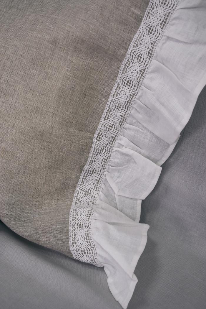 Комплект постельного белья лен 100 рустик евро фото 3