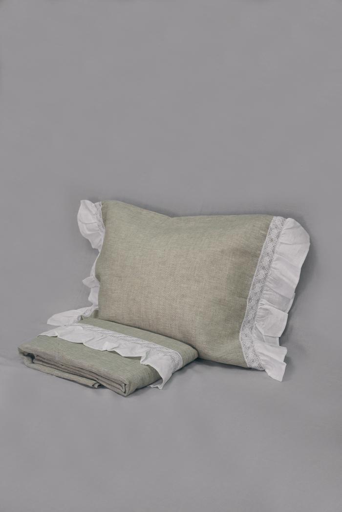 Комплект постельного белья лен 100 рустик евро фото 4