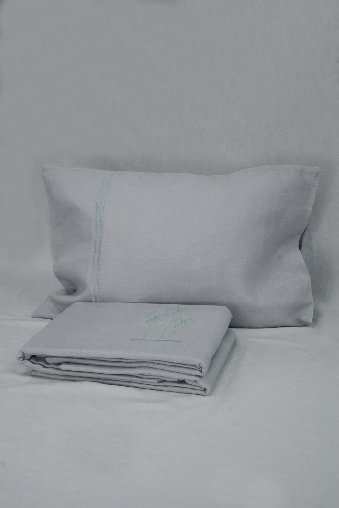 Комплект постельного белья лен 100 ярви евро фото 1