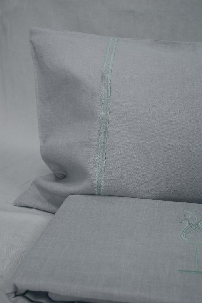 Комплект постельного белья лен 100 ярви евро фото 4