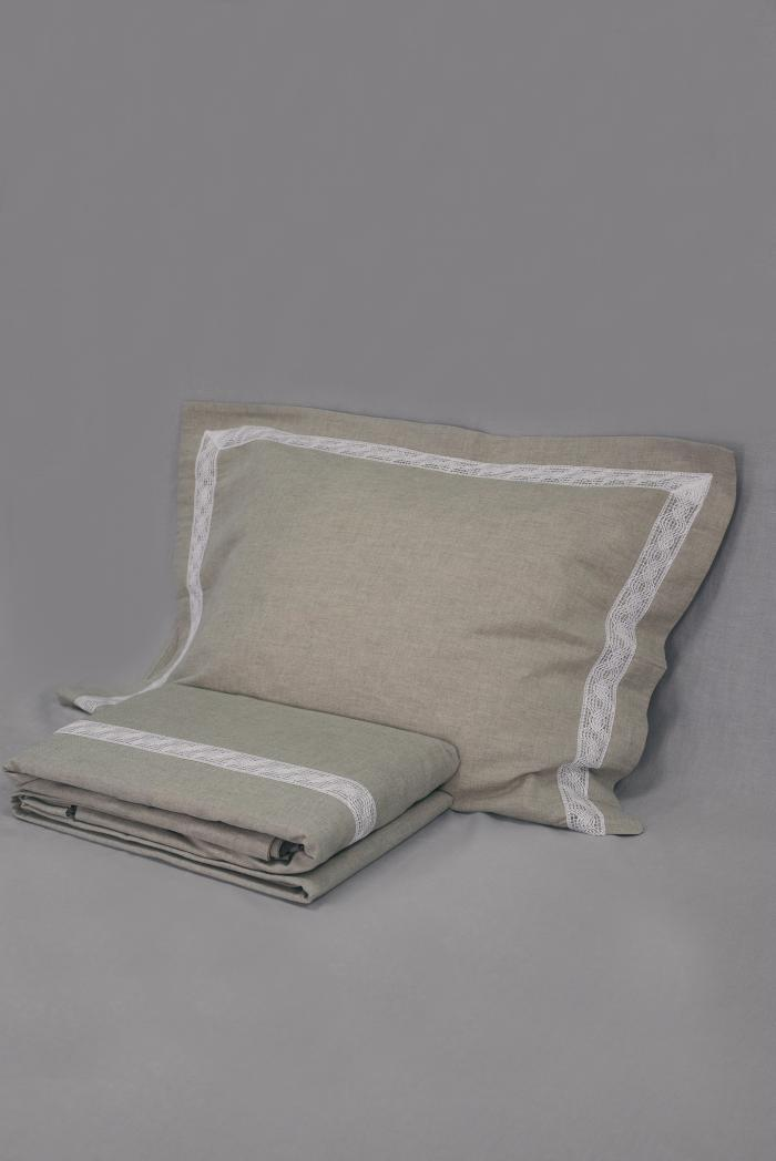 Комплект постельного белья п лен винтаж евро фото 2