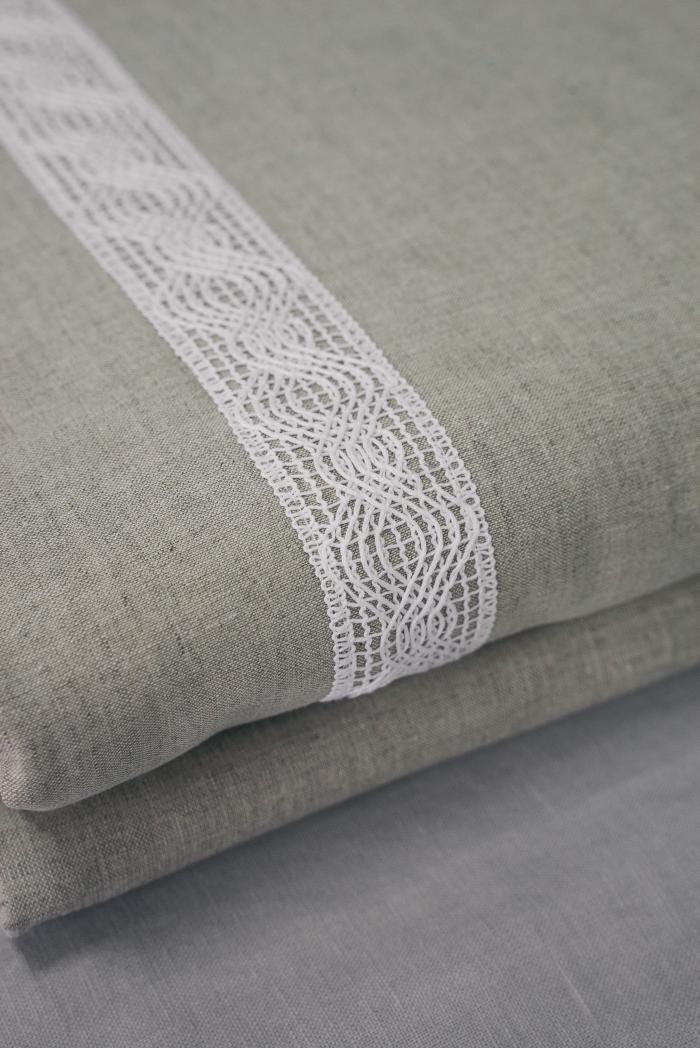 Комплект постельного белья п лен винтаж евро фото 3