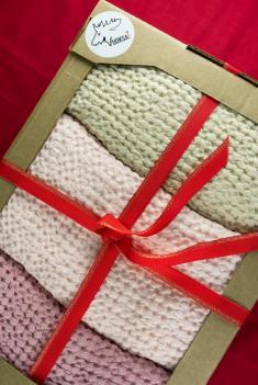 Подарочный набор из 3 х полотенец 80 140 см фото 1