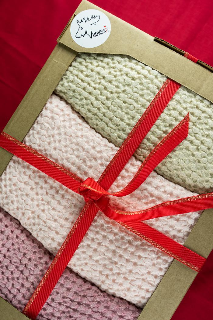 Подарочный набор из 3 х полотенец 80 140 см фото 1>                   <span class=