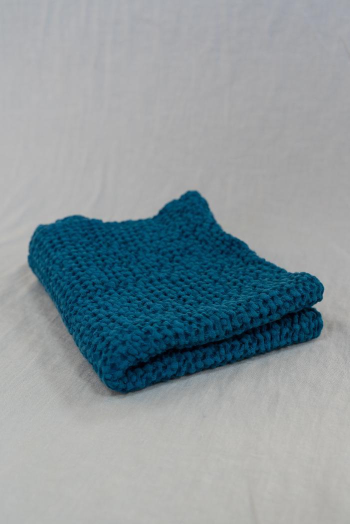 Вафельное полотенце в синем цвете 50 70 см фото 1>                   <span class=