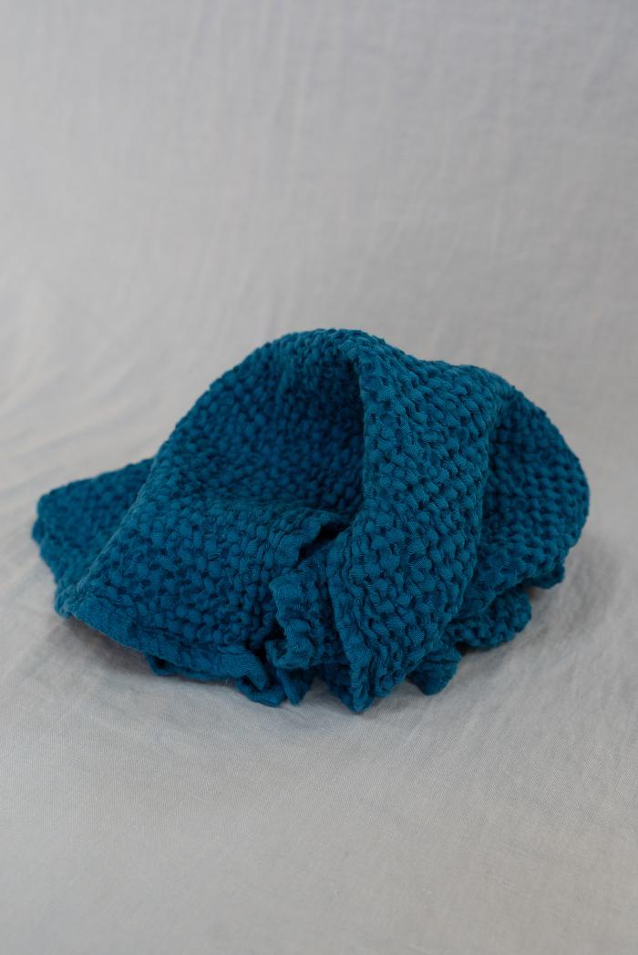 Вафельное полотенце в синем цвете 50 70 см фото 2>                   <span class=