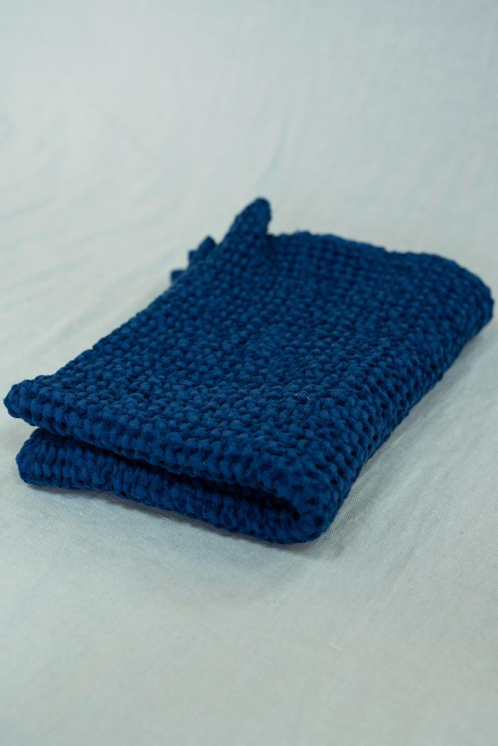 Вафельное полотенце в темно синем цвете 50 70 см фото 1>                   <span class=