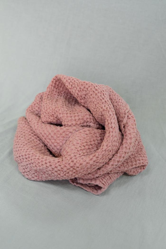 Вафельное полотенце в розовом цвете 75 120 см фото 3>                   <span class=