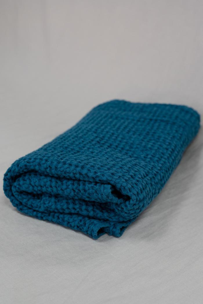 Вафельное полотенца в синем цвете 75 120 см фото 1>                   <span class=