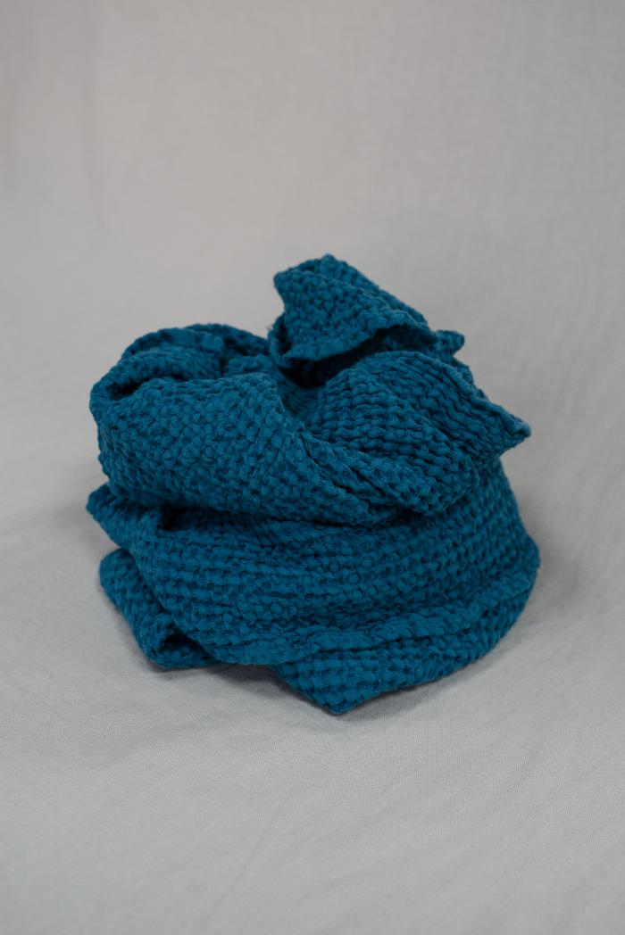 Вафельное полотенца в синем цвете 75 120 см фото 2>                   <span class=