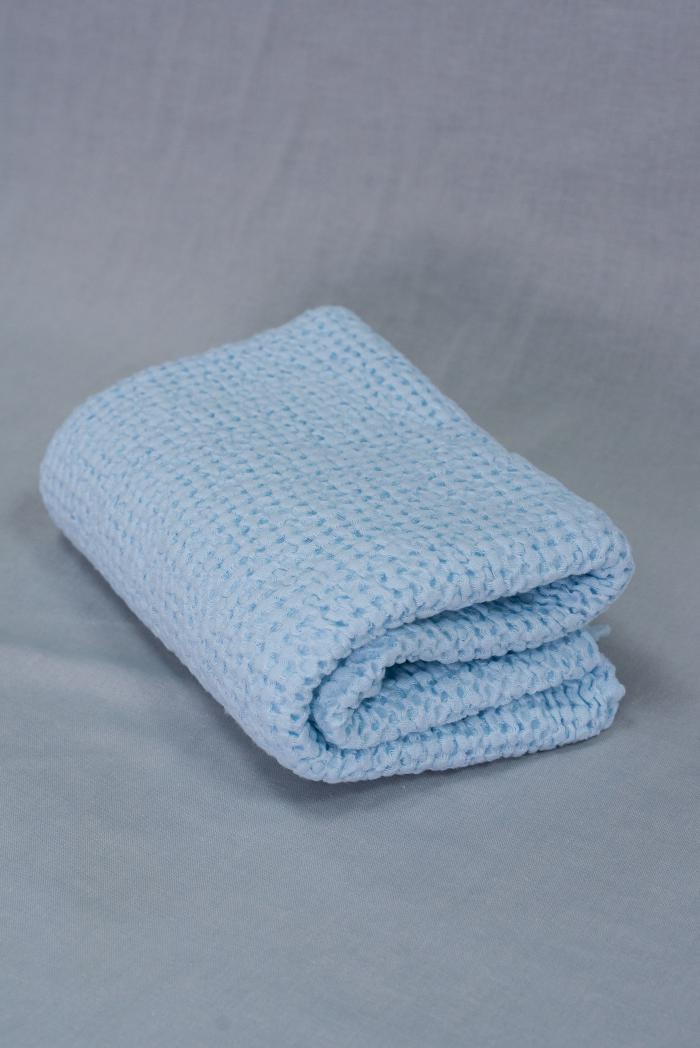 Вафельное полотенце в светло голубом цвете 75 120 см фото 1>                   <span class=