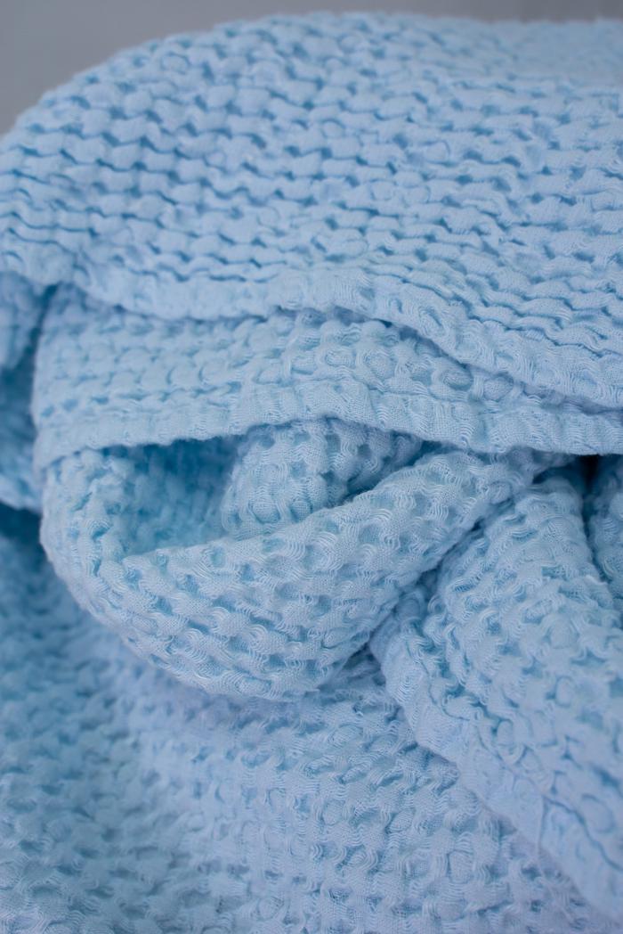 Вафельное полотенце в светло голубом цвете 75 120 см фото 4>                   <span class=