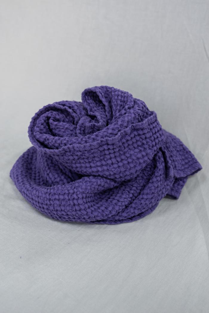 Вафельное полотенце в фиолетовом цвете 75 120 см фото 2>                   <span class=