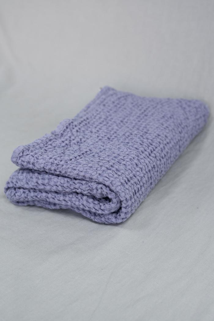 Вафельное полотенце в сиреневом цвете 75 120 см фото 1>                   <span class=