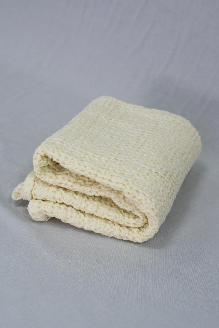 Вафельное полотенце в светло бежевом цвете 75 120 см фото 1>                   <span class=