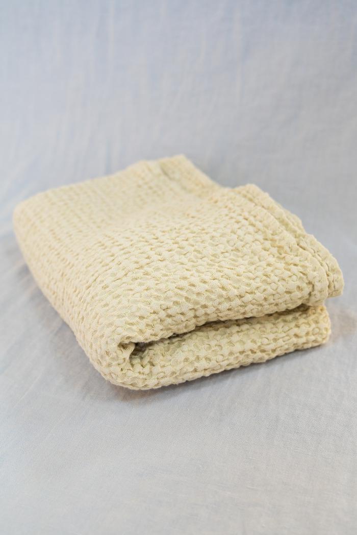 Вафельное полотенце в бежевом цвете 80 140 см фото 1>                   <span class=