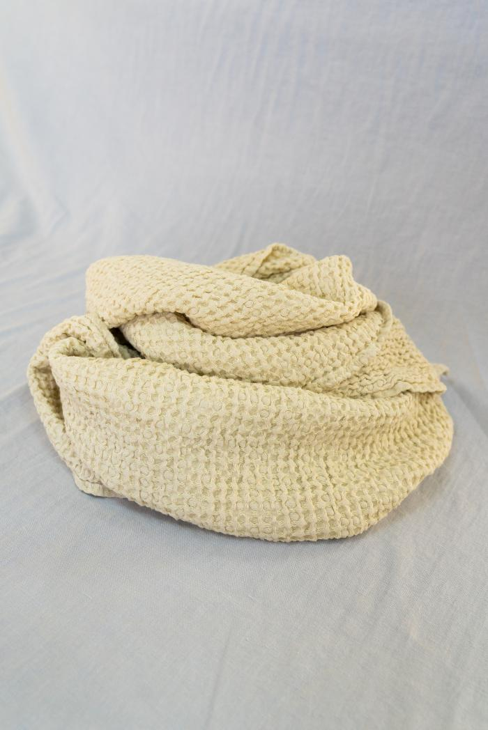Вафельное полотенце в бежевом цвете 80 140 см фото 3>                   <span class=