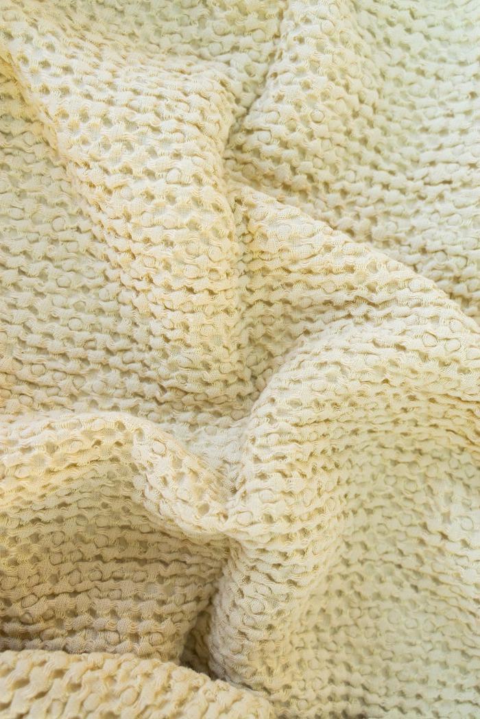 Вафельное полотенце в бежевом цвете 80 140 см фото 4>                   <span class=