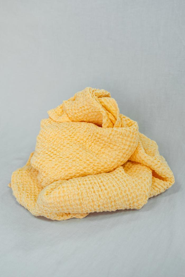 Вафельное полотенце в персиковом цвете 80 140 см фото 4>                   <span class=