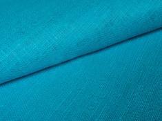 Ткань декоративная лен 100 глубина байкала фото 1