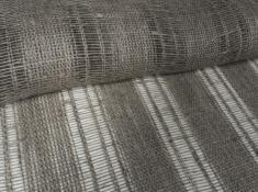 Ткань декоративная лен 100 серая зола фото 1