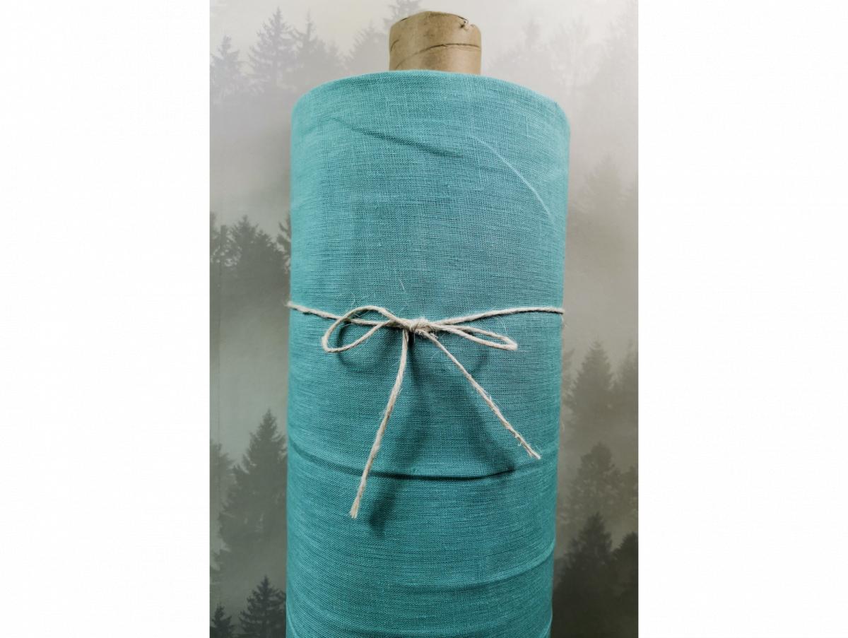 Ткань для постельного белья лен 100 бирюза фото 1>                   <span class=